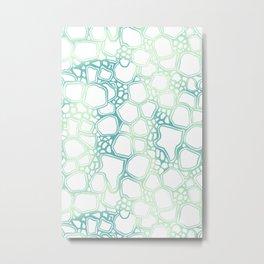 Aqua Cells Metal Print