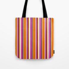 Fun Stripes pink orange Tote Bag