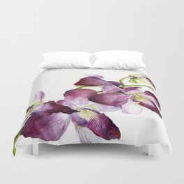 Radiant Orchids: Magenta Dendrobiums Duvet Cover