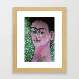 Portrait of Frida Framed Art Print