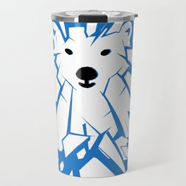Save the Arctic Polar Bear and Melting Ice Caps Travel Mug