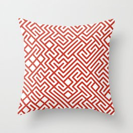 10 Print: Bold Red Throw Pillow