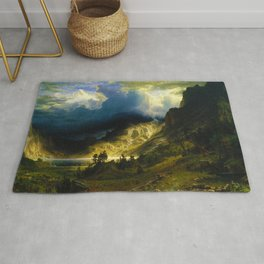 A Storm in the Rocky Mountains, Mt. Rosalie (1866) Rug