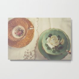 Two Teacups Metal Print