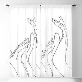 Line Hands Blackout Curtain