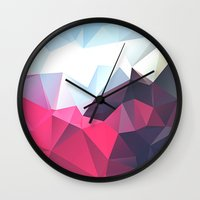 wwe Wall Clocks featuring Polygonal by eARTh