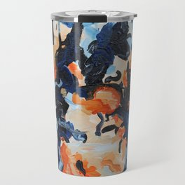 Muse- Bold and Lively Abstract Painting Original art Travel Mug