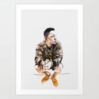 kendrick lamar Art Prints featuring Kendrick Lamar by Aleksandra Stanglewicz