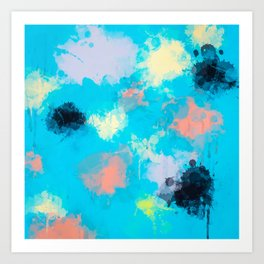 Abstract Paint splatter design Art Print