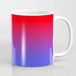 Neon Red and Bright Neon Blue Ombre Shade Color Fade Coffee Mug