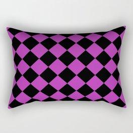 Rhombus (Black & Purple Pattern) Rectangular Pillow