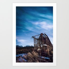 Delapitated in the Night Art Print