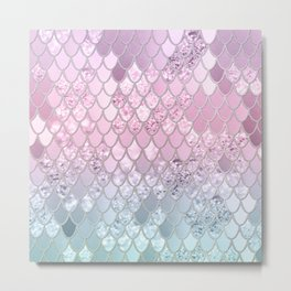 Mermaid Glitter Scales #2 #shiny #decor #art #society6 Metal Print