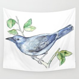 Watercolor of a bluebird Wall Tapestry