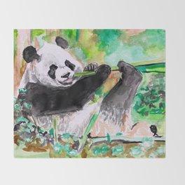 Panda lovin' Throw Blanket