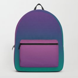 Ombre Ultra Violet Green Pattern   Trendy colors of the year 2018 Backpack