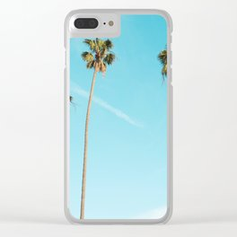 Tropical Miami Palm Trees Clear iPhone Case