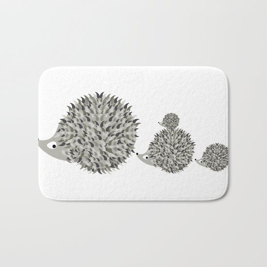 Hedgehogs family Bath Mat