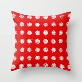 Dotted love Throw Pillow