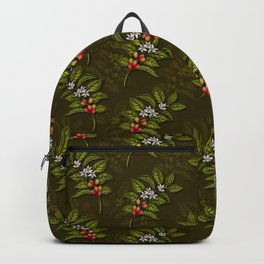 Coffee Plant Branches w/ Coffee Cherries & Flowers Backpack