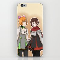 rwby iPhone & iPod Skins featuring Nuts and Dolts by TheKingKez