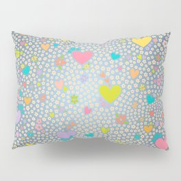 Hearts and Flowers Two Pillow Sham
