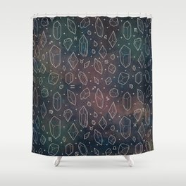 Crystals & Constellations (Nebula) Shower Curtain