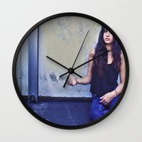 jackalope Wall Clocks featuring JACKALOPE by Evan Daigle