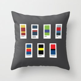 Heroes Palette Throw Pillow