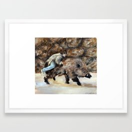 Komodorus and The Boar Framed Art Print