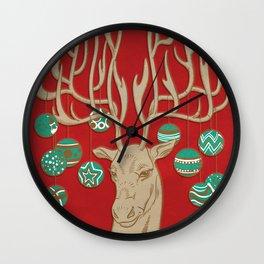 Fabulous Rudolph Wall Clock