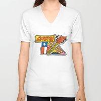 austin V-neck T-shirts featuring Austin TX by Brandon Ortwein