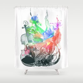 Fiddle Shower Curtain