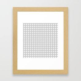 Buffalo Checks Plaid in Dove Gray and White Framed Art Print