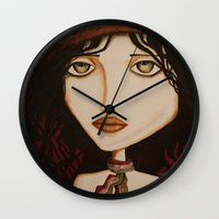 model Wall Clocks featuring model by Gabriele Perici