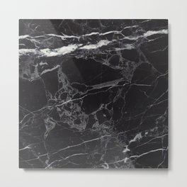 Black & White Marble Metal Print
