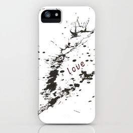 Zen (mind, peace, love) iPhone Case
