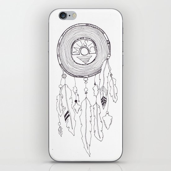 music catcher iPhone & iPod Skin