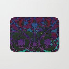 Art Nouveau Visible Cat Bath Mat