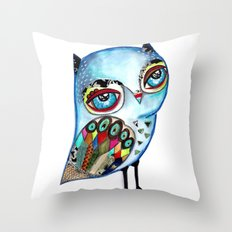 Owl - keep calm and be wise! Throw Pillow