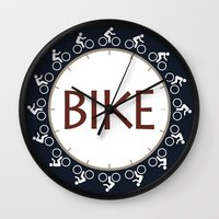 bike Wall Clocks featuring Bike by Phil Perkins