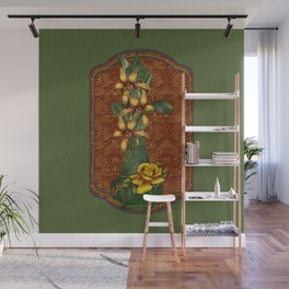 Tiger Lilies & Roses Genie Bottle Wall Mural