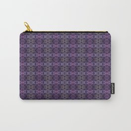 Purple Iris Abstract Pattern Carry-All Pouch