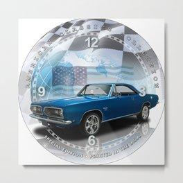 "1968 Plymouth Barracuda Decorative 10"" Wall Clock (004ac) Metal Print"