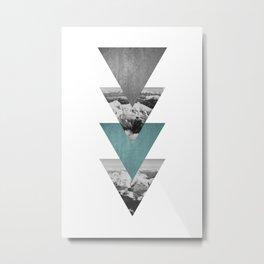 Triangles & Mountains Print Metal Print