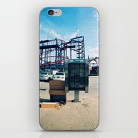 monkey island iPhone & iPod Skins featuring Coney Island by The Clutter Monkey