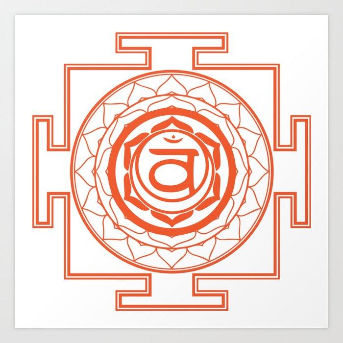 Sri Yantra Sacral Chakra Art Print
