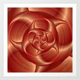 Copper Pincers Spiral Art Print