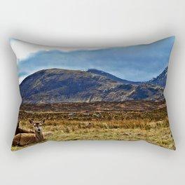 scottish Deer Rectangular Pillow