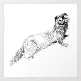Totem: American Mink (c) 2017 Art Print